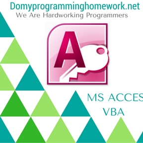 DO MY MS ACCESS VBA HOMEWORK