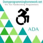 Do My ADA Homework